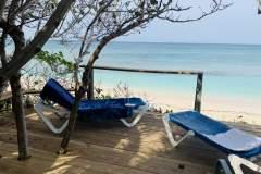Beach deck lounge chairs